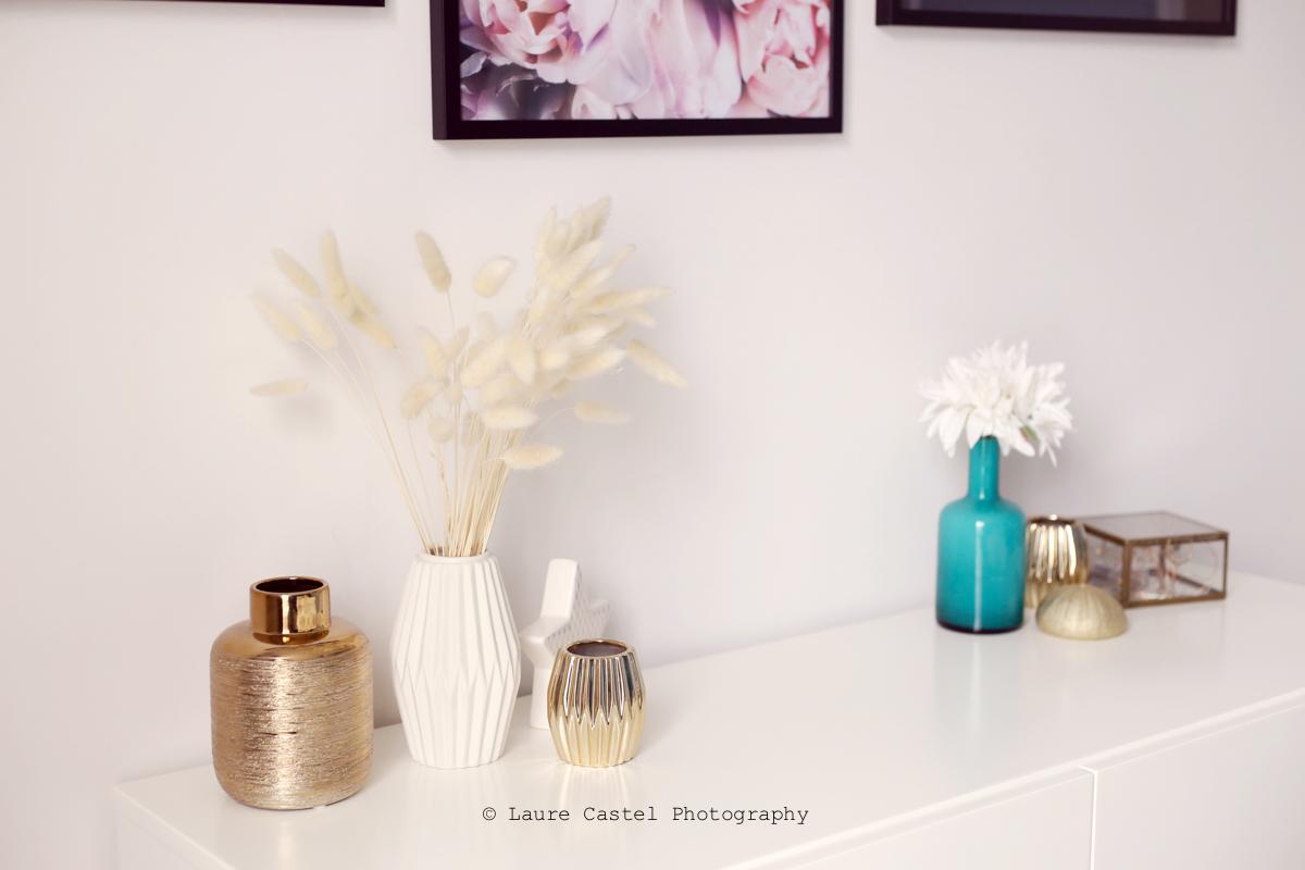 Chambre décoration blanc & or | Les Petits Riens