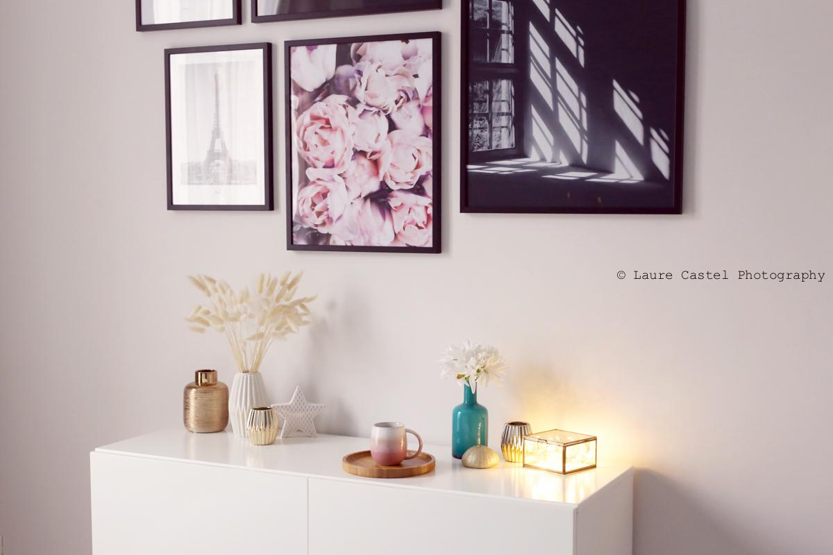 Chambre décoration mur de photos | Les Petits Riens