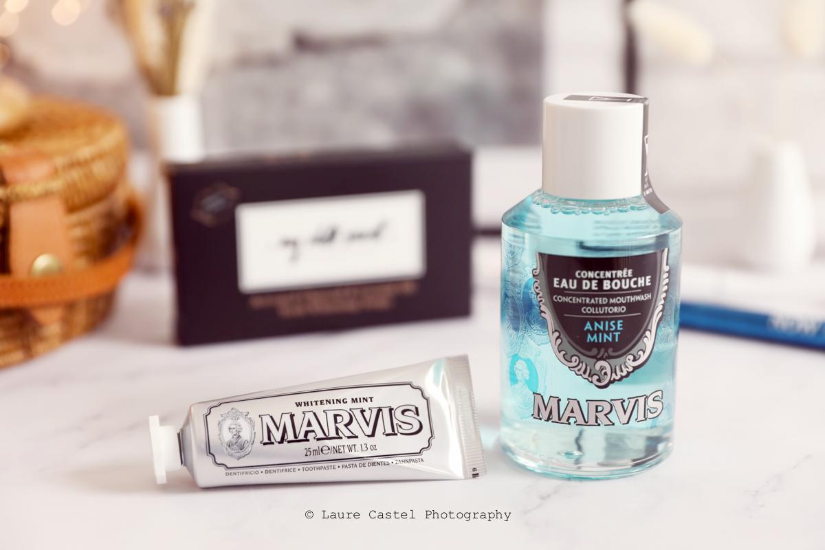 Dentifrice dents blanches et bain de bouche Marvis | Les Petits Riens