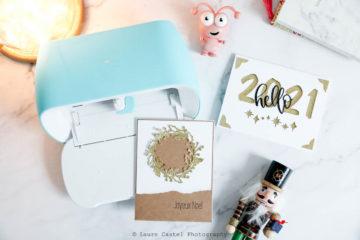 Des cartes de voeux avec la Cricut Joy | Les Petits Riens