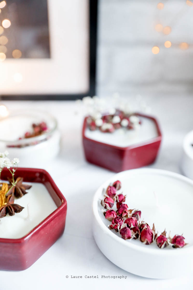 DIY bougies parfumées fleurs séchées | Les Petits Riens