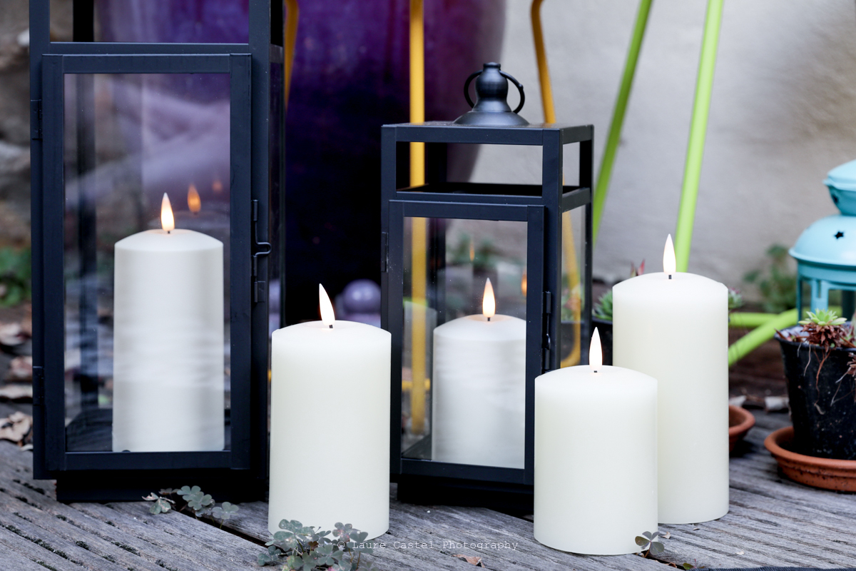 Bougies lumineuses pour terrasse   Les Petits Riens