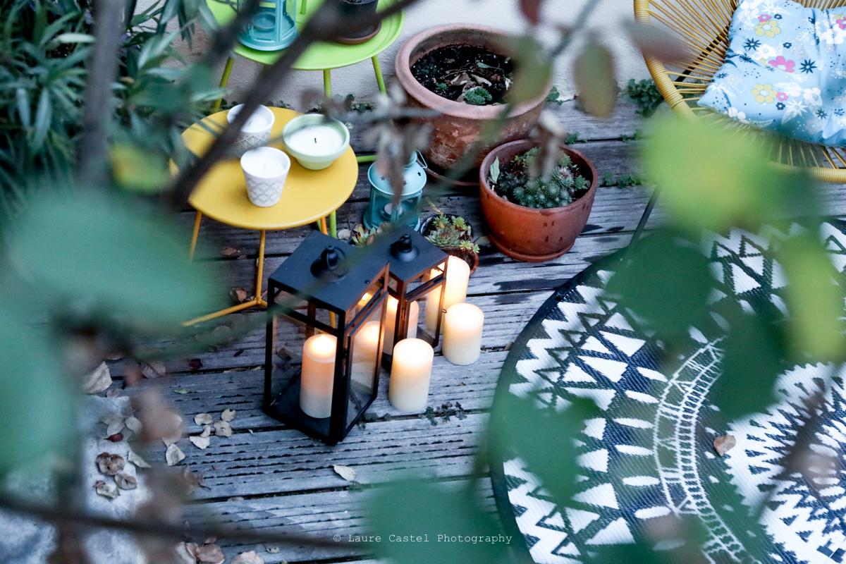 Décoration lumineuse pour terrasse bohème   Les Petits Riens