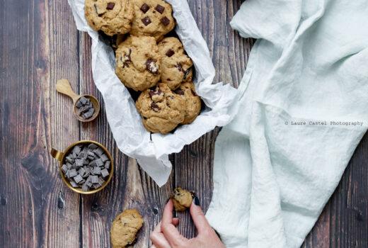 Cookies au Tahin et pépites de chocolat | Les Petits Riens