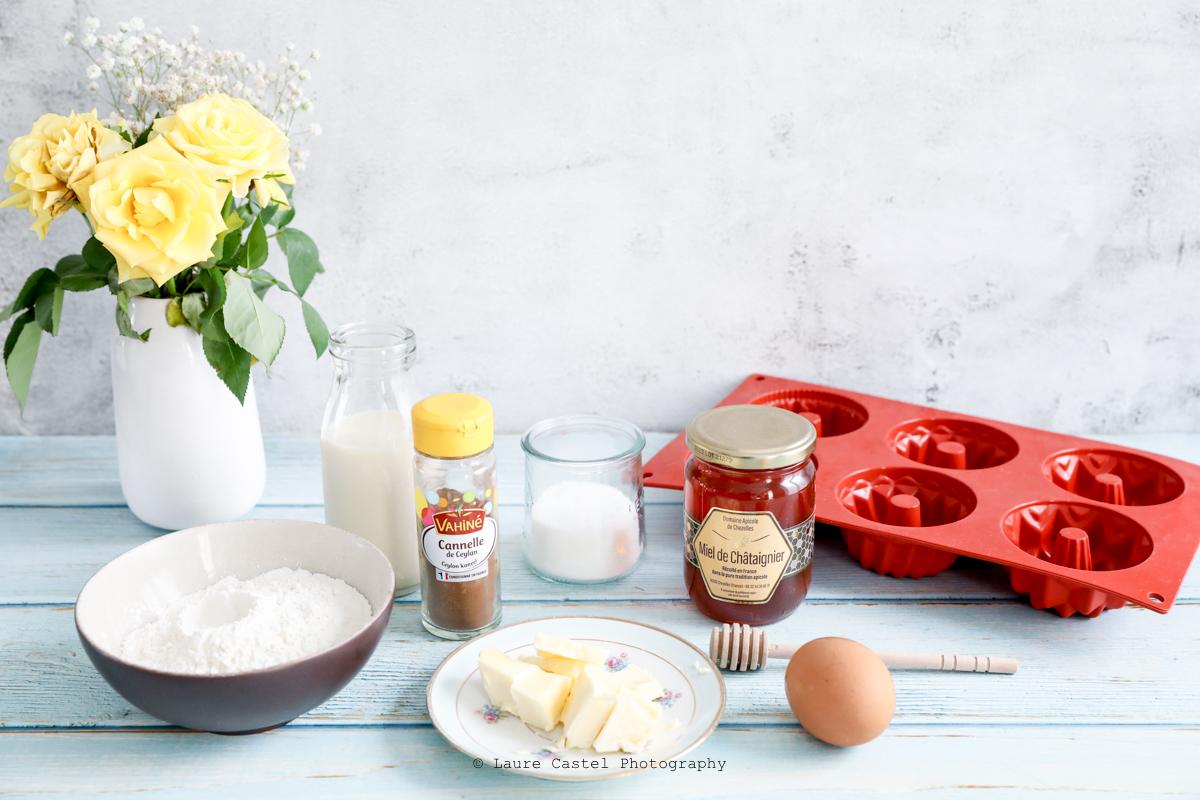 Ingrédients pour recette gourmande au miel et à la cannelle | Les Petits Riens